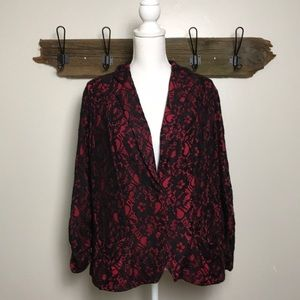 Torrid Blazer Black Lace with Red Lining NWT